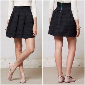 Anthropologie Ponte Bell Skirt black bandage XS/S